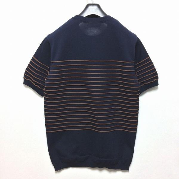 TOMORROWLAND トゥモローランド メンズ ロープストライプ ニットTシャツ altasotto 11