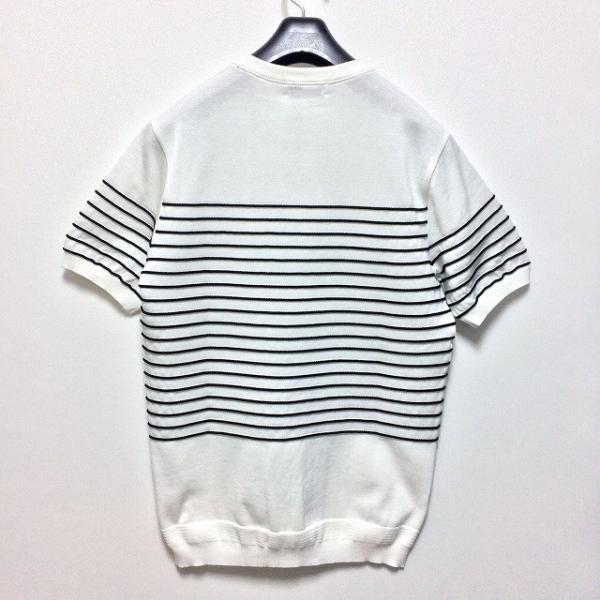 TOMORROWLAND トゥモローランド メンズ ロープストライプ ニットTシャツ altasotto 06