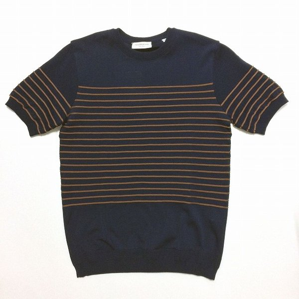 TOMORROWLAND トゥモローランド メンズ ロープストライプ ニットTシャツ altasotto 07