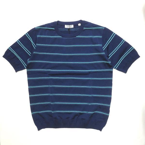 TOMORROWLAND トゥモローランド メンズ ロープストライプ ニットTシャツ|altasotto|12