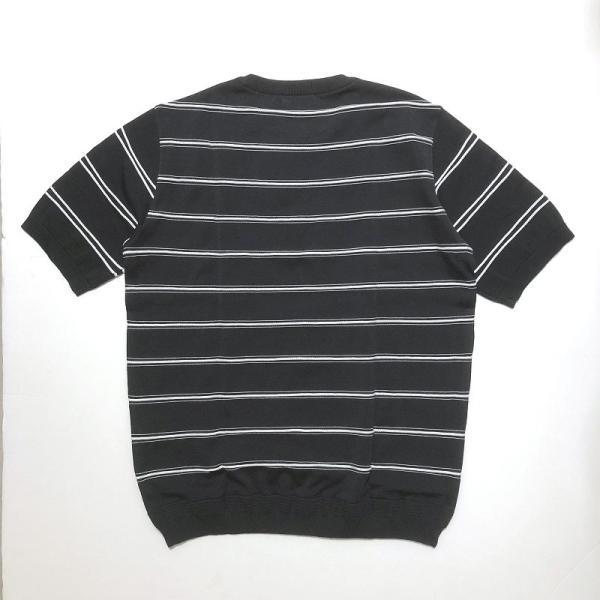 TOMORROWLAND トゥモローランド メンズ ロープストライプ ニットTシャツ|altasotto|09