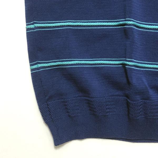 TOMORROWLAND トゥモローランド メンズ ロープストライプ ニットTシャツ|altasotto|04
