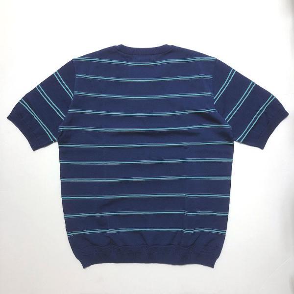 TOMORROWLAND トゥモローランド メンズ ロープストライプ ニットTシャツ|altasotto|05