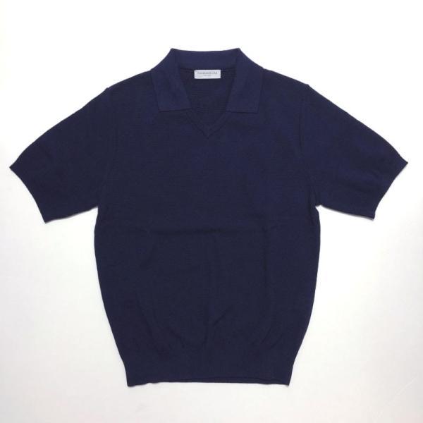 TOMORROWLAND トゥモローランド メンズ スキッパーカラー ニットポロシャツ|altasotto|16