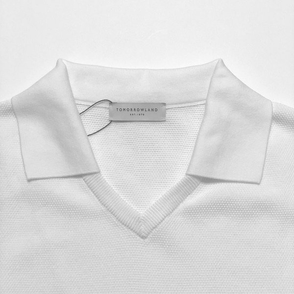 TOMORROWLAND トゥモローランド メンズ スキッパーカラー ニットポロシャツ|altasotto|02