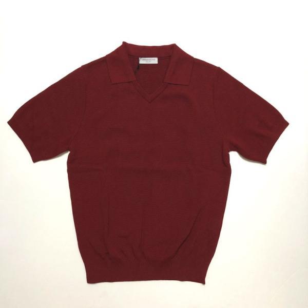 TOMORROWLAND トゥモローランド メンズ スキッパーカラー ニットポロシャツ|altasotto|15