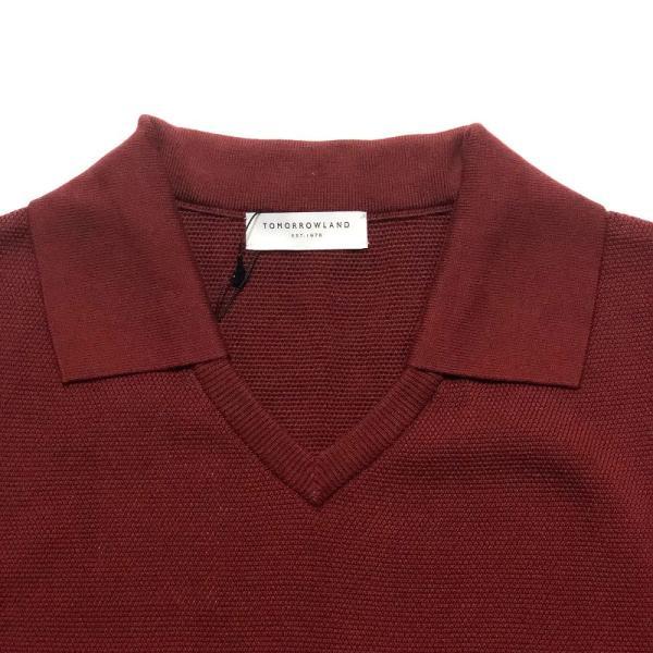 TOMORROWLAND トゥモローランド メンズ スキッパーカラー ニットポロシャツ|altasotto|05