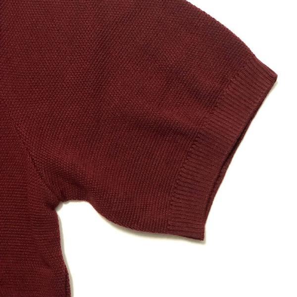 TOMORROWLAND トゥモローランド メンズ スキッパーカラー ニットポロシャツ|altasotto|06