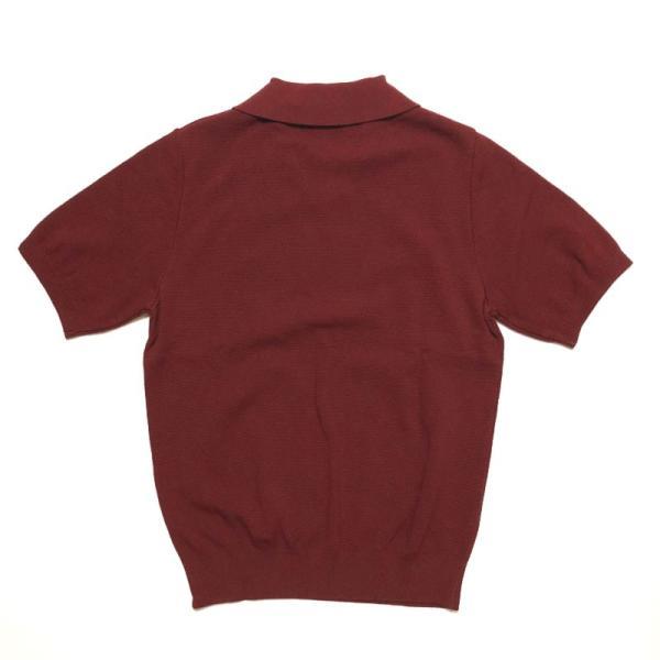 TOMORROWLAND トゥモローランド メンズ スキッパーカラー ニットポロシャツ|altasotto|08
