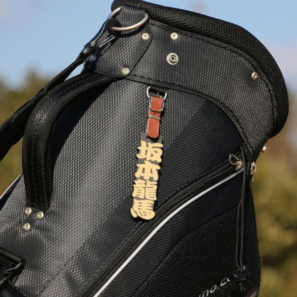 ゴルフ 浮き彫り ゴールド シルバー ネームプレート ネームタグ 名前札/メール便 送料無料/|altasystem|08