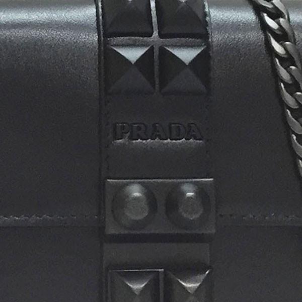 プラダ バッグ PRADA 1DH061 2BPT F0002 レディース 斜め掛け チェーン ショルダーバッグ CITY CALF BORCH スタッズ NERO ブラック