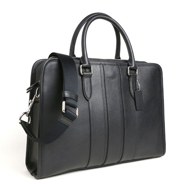 3817d53a480e ... COACH コーチ アウトレット OUTLET メンズ レザー BOND BRIEF SMOOTH LEATHER 2way ビジネスバッグ  ブリーフケース BLACK ...