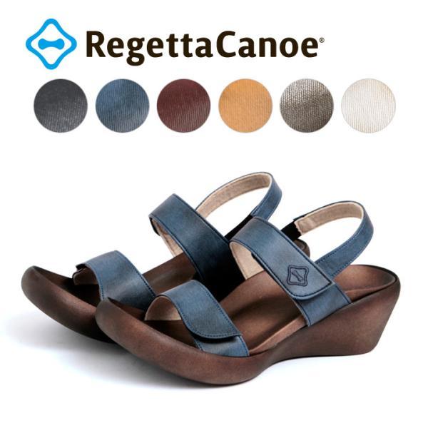 リゲッタカヌー RegettaCanoe  CJLW-5501 ウェッジヒール デニム生地ウェッジサンダル