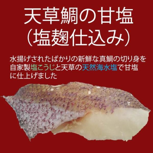 熊本県 天草鯛の甘塩 塩こうじ仕込み 切り身90g|amakusa-gourmet