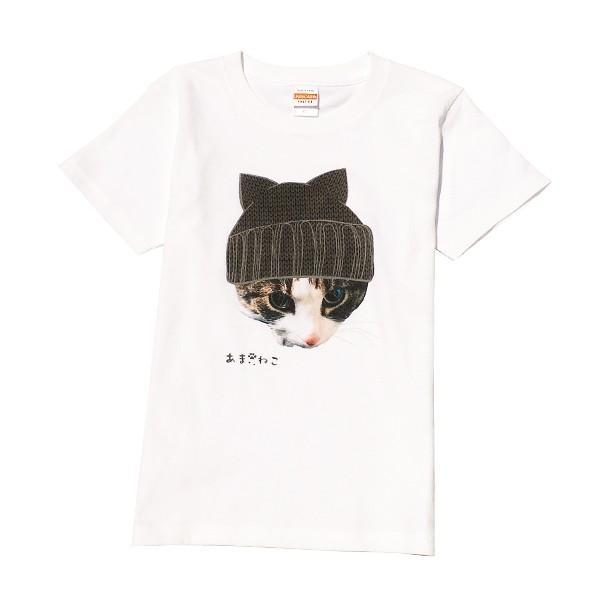 ニット帽 ネコTシャツ XS〜Lサイズ 白 ホワイト トラ猫 メンズ レディース カワイイ ユニーク|amaneko|09