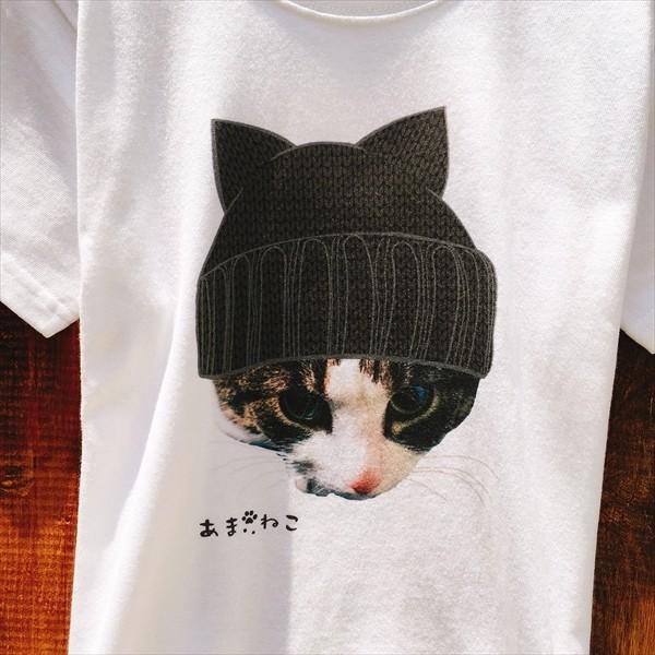 ニット帽 ネコTシャツ XS〜Lサイズ 白 ホワイト トラ猫 メンズ レディース カワイイ ユニーク|amaneko|10