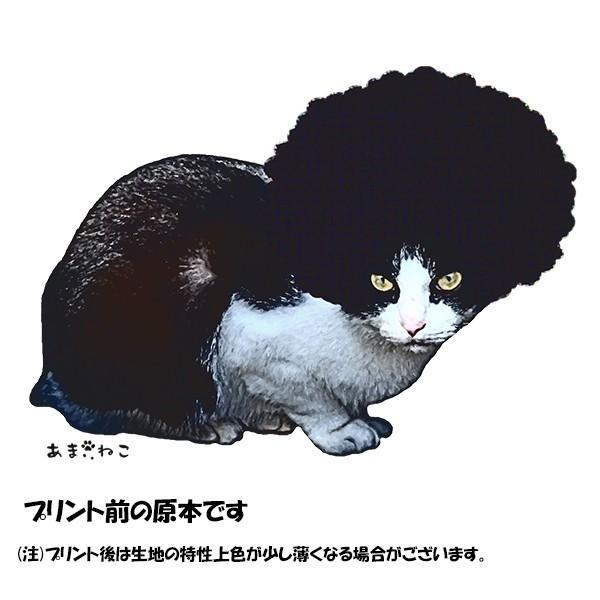 アフロな猫Tシャツ XS〜Lサイズ 白 ホワイト シンプル メンズ レディース 白黒 厚手 ロック フェス amaneko 09