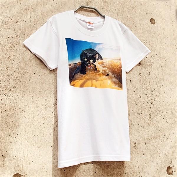 サーフボード 猫Tシャツ XS〜Lサイズ メンズ レディース 綿100% サーフィン 厚手 マリンスポーツ サーフィン ボディボード ホワイト|amaneko|05