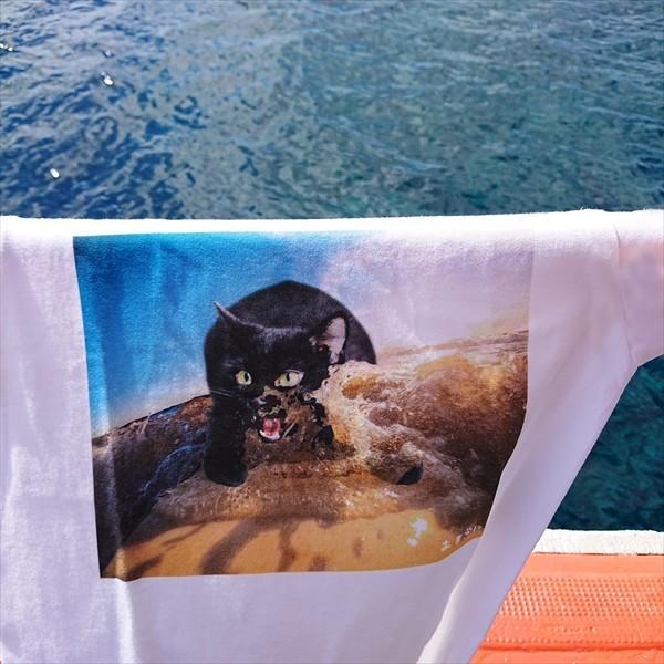 サーフボード 猫Tシャツ XS〜Lサイズ メンズ レディース 綿100% サーフィン 厚手 マリンスポーツ サーフィン ボディボード ホワイト|amaneko|07
