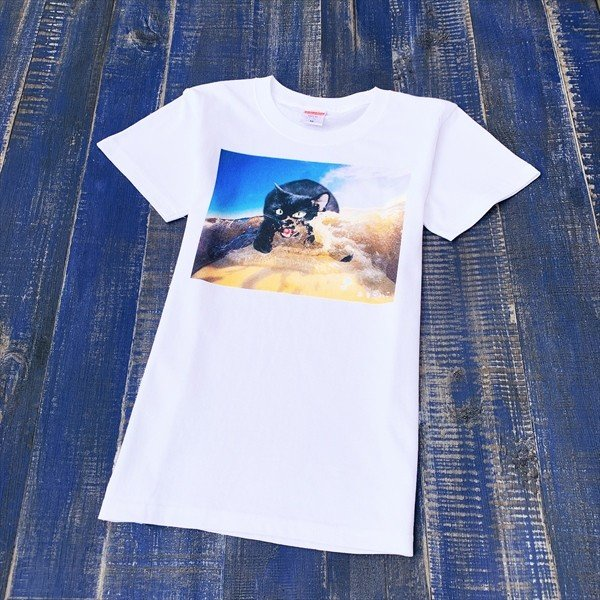 サーフボード 猫Tシャツ XS〜Lサイズ メンズ レディース 綿100% サーフィン 厚手 マリンスポーツ サーフィン ボディボード ホワイト|amaneko|08