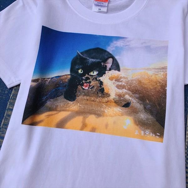 サーフボード 猫Tシャツ XS〜Lサイズ メンズ レディース 綿100% サーフィン 厚手 マリンスポーツ サーフィン ボディボード ホワイト|amaneko|09