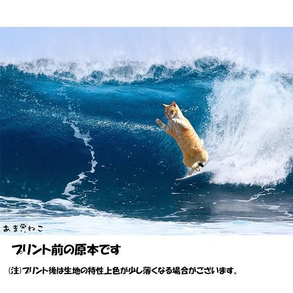 サーフィン猫 Tシャツ XS〜Lサイズ メンズ レディース 綿100% 厚手 マリンスポーツ サーフィン ボディボード ホワイト ユニーク|amaneko|11
