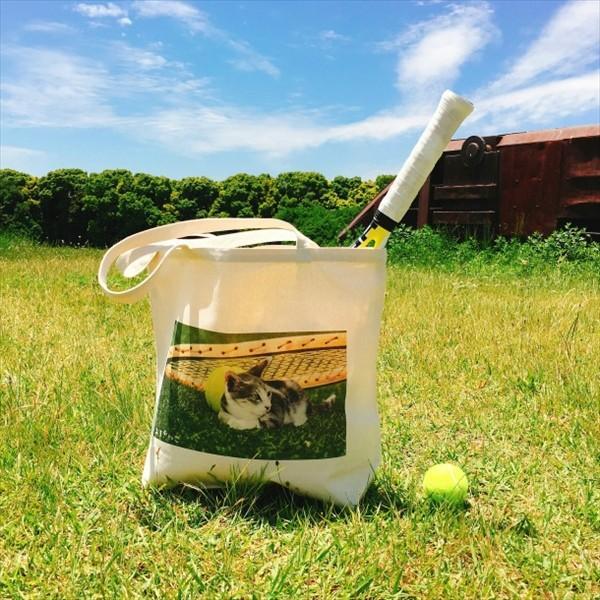 猫トートバッグ テニス Lサイズ 男女兼用 20リットル 大容量 ラケットバッグ ショッピングバッグ|amaneko|02