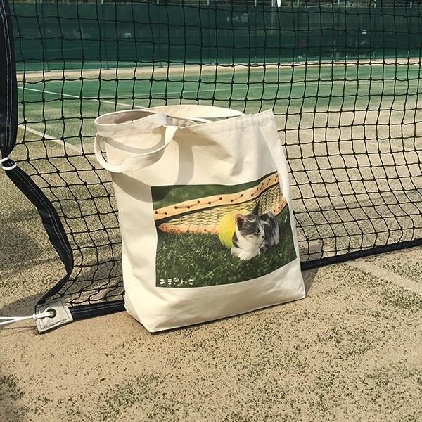 猫トートバッグ テニス Lサイズ 男女兼用 20リットル 大容量 ラケットバッグ ショッピングバッグ|amaneko|07