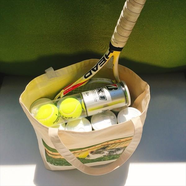 猫トートバッグ テニス Lサイズ 男女兼用 20リットル 大容量 ラケットバッグ ショッピングバッグ|amaneko|10