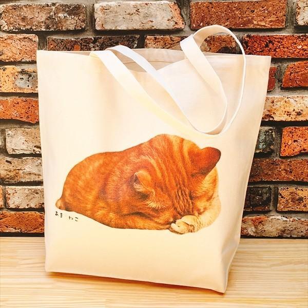 顔隠す猫トートバッグ 茶トラ トラ猫 Lサイズ 男女兼用 20リットル 大容量 ショッピングバッグ エコバッグ|amaneko|02
