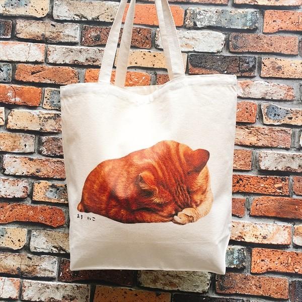 顔隠す猫トートバッグ 茶トラ トラ猫 Lサイズ 男女兼用 20リットル 大容量 ショッピングバッグ エコバッグ|amaneko|03