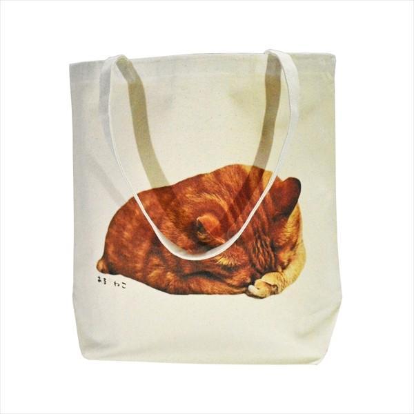 顔隠す猫トートバッグ 茶トラ トラ猫 Lサイズ 男女兼用 20リットル 大容量 ショッピングバッグ エコバッグ|amaneko|07