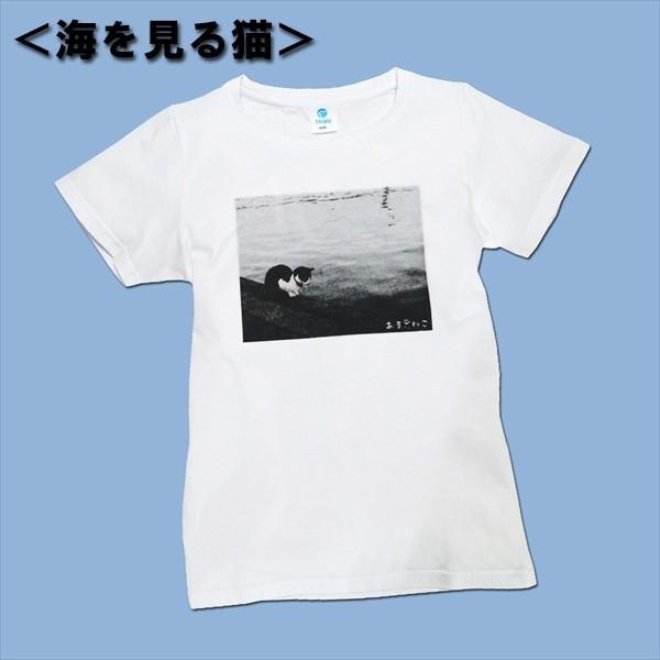 アウトレットvol.3 猫Tシャツ WS〜WLサイズ 白 ホワイト レディース キッズ ユニーク パロディ 綿100% 5.7oz 半額 セール|amaneko|02