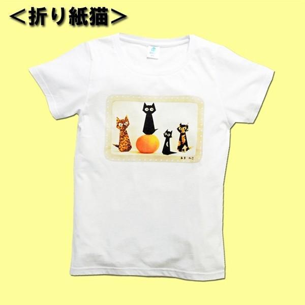 アウトレットvol.3 猫Tシャツ WS〜WLサイズ 白 ホワイト レディース キッズ ユニーク パロディ 綿100% 5.7oz 半額 セール|amaneko|05