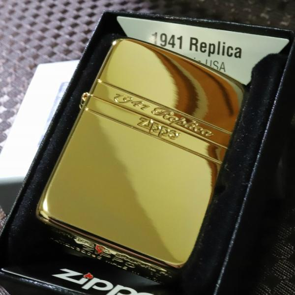 限定ZIPPO 1941レプリカ サイドシェル ゴールド 限定ナンバー入り プレゼント 人気 高級 ジッポー 限定ジッポ 金タンク ライター かっこいい zippo