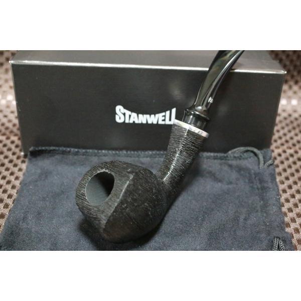 【スタンウェル・パイプ・リバイバル230 BSH ブラッシュ仕上げ 黒】 ブランドパイプ人気 輸入パイプ おすすめ 喫煙具 煙管 洋
