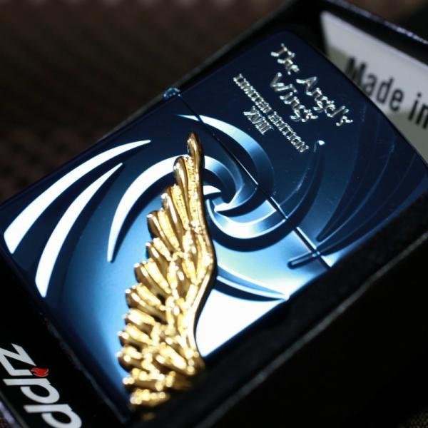 限定ジッポ 2018 エンジェルウイング ブルー ZIPPO 翼 羽 青 限定 人気 プレゼント おしゃれ PAW ライター かっこいい zippo