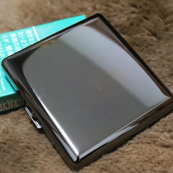 PEARL カジュアルメタル20 キングサイズ シガレットケース ブラックニッケル 20本 85mm 人気 ブランド たばこケース タバコケース 煙草ケース 無地