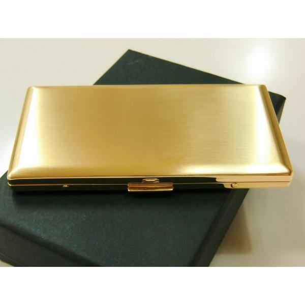 PEARL 超薄型 メタルシガレットケース ゴールド リリースリム 85mm 100mm 6本 ブランド タバコケース たばこケース 金色 ロングサイズ対応 かっこいい