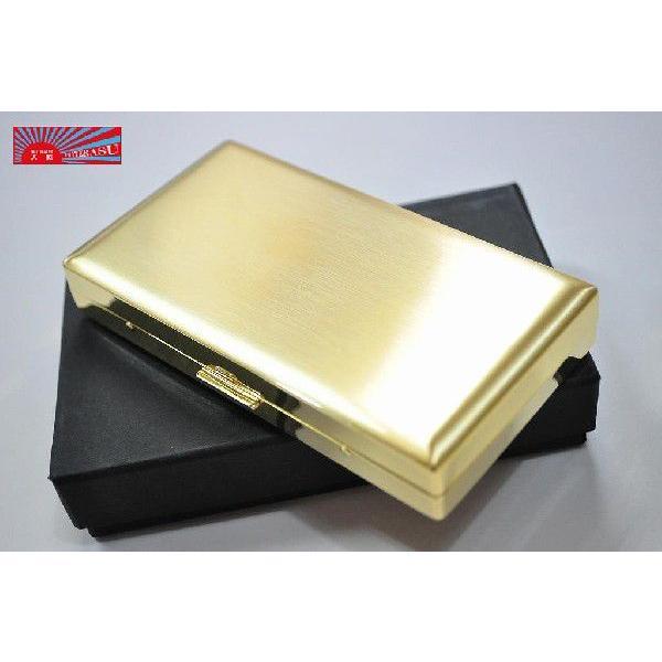 PEARL ゴールドサテン シガレットケース エリカ 12本 85mm 100mm たばこケース タバコケース ロング可 金色 人気 おすすめ かっこいい シガーケース