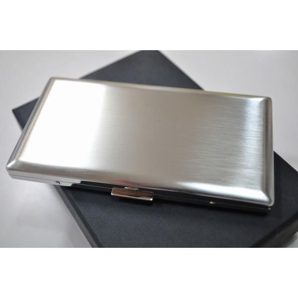PEARL 超薄型 メタルシガレットケース シルバー リリースリム 85mm 100mm 6本 ブランド タバコケース たばこケース ロングサイズ対応 銀色 かっこいい