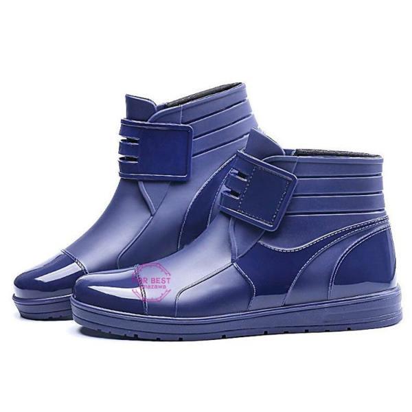 レインブーツメンズ 雨靴 レインシューズ ショートブーツ 防水 ブーツ 雨 雪 雨対策 おしゃれ 雨具 amazawa 13
