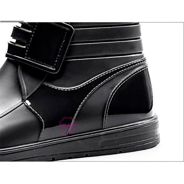 レインブーツメンズ 雨靴 レインシューズ ショートブーツ 防水 ブーツ 雨 雪 雨対策 おしゃれ 雨具 amazawa 21