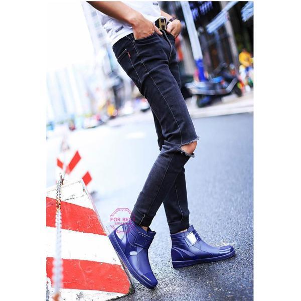 レインブーツメンズ 雨靴 レインシューズ ショートブーツ 防水 ブーツ 雨 雪 雨対策 おしゃれ 雨具 amazawa 09