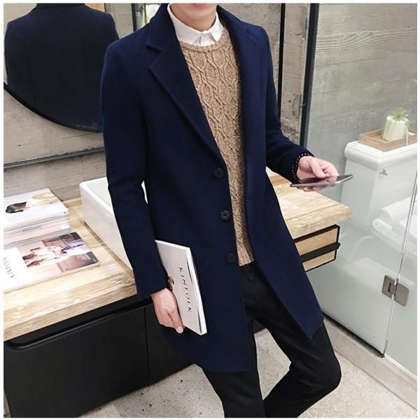 チェスターコート メンズ アウター コート ビジネスコート  紳士服 スリム 通勤 卒業式 防寒 2018 新春|amazawa|07