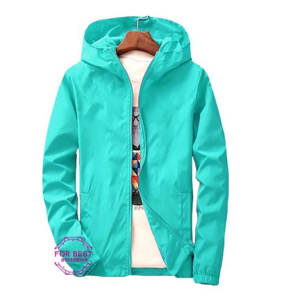 ウィンドブレーカー メンズ ジップアップパーカー ジャケット UVカット 大きいサイズ おしゃれ ブルゾン 撥水 防風 新春 セール amazawa 17