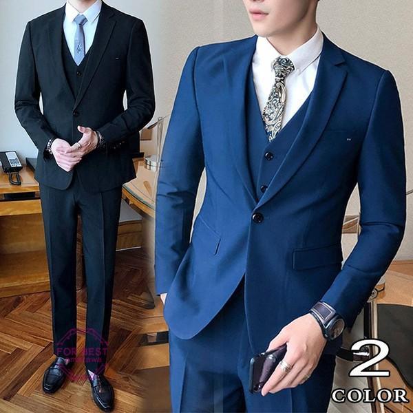 0b9a96e0a171f スーツ フォーマル メンズ ビジネススーツ 結婚式 3ピーススーツ ...