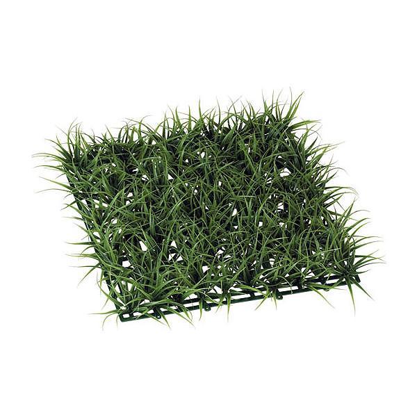 人工芝 ロンググラスマット (1枚)(ダークグリーン 造花 芝生 DIY 壁面装飾 フェイクグリーン)(屋外使用可)