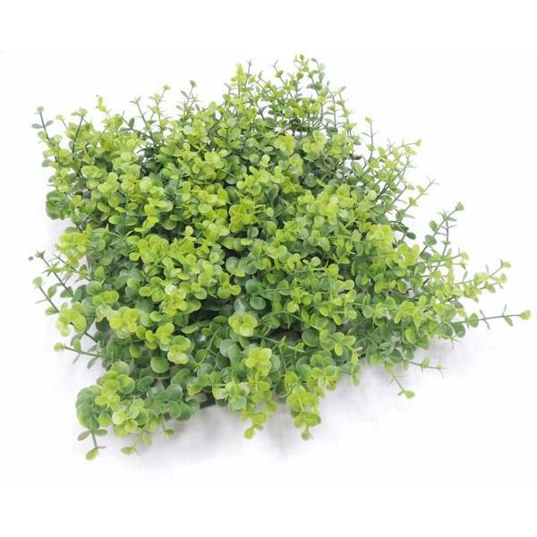 人工芝 24cm角 ユーカリガーデンマット (1枚)(造花 おしゃれ 人工 草 芝生 グリーン DIY 壁面装飾)(屋外使用OK)
