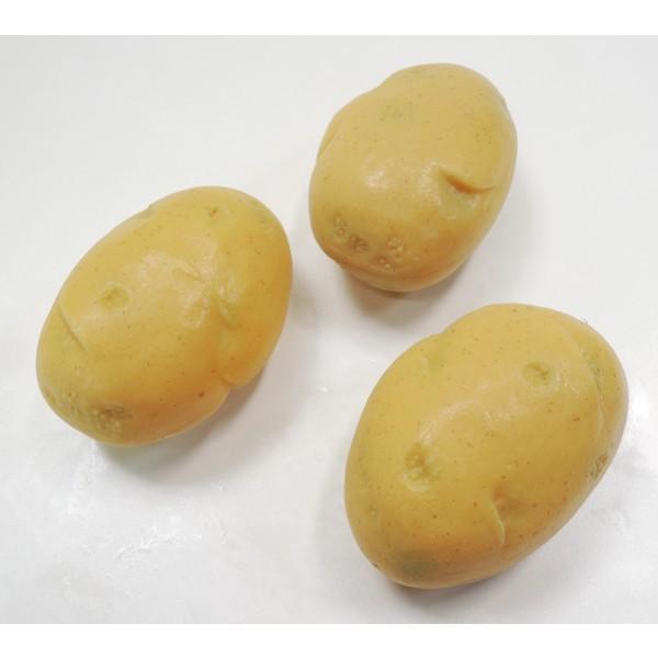 100ミリ フレッシュポテト 4個入り(食品サンプル・フェイク・野菜・ジャガイモ)|ambix